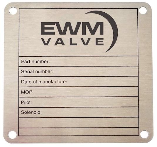Nameplate for Manufacturer